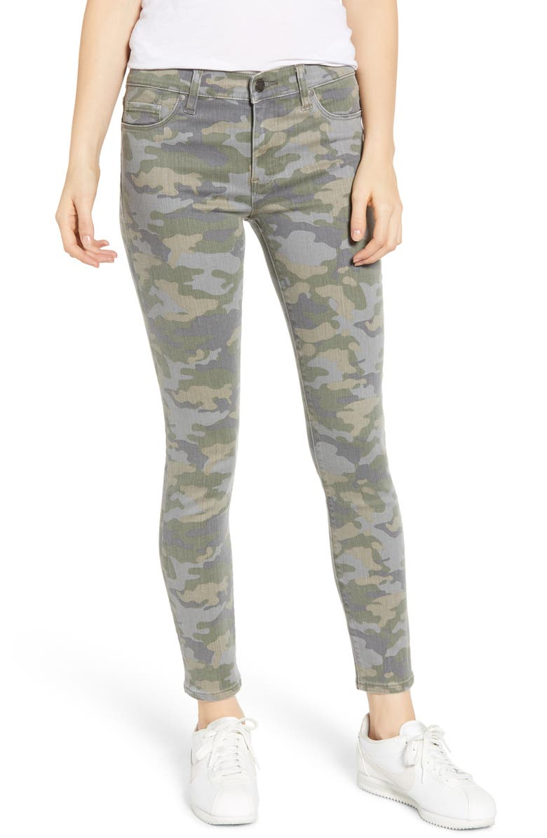HUDSON JEANS 'Nico' Ankle Skinny Jeans, Main, color, SURPLUS CAMO