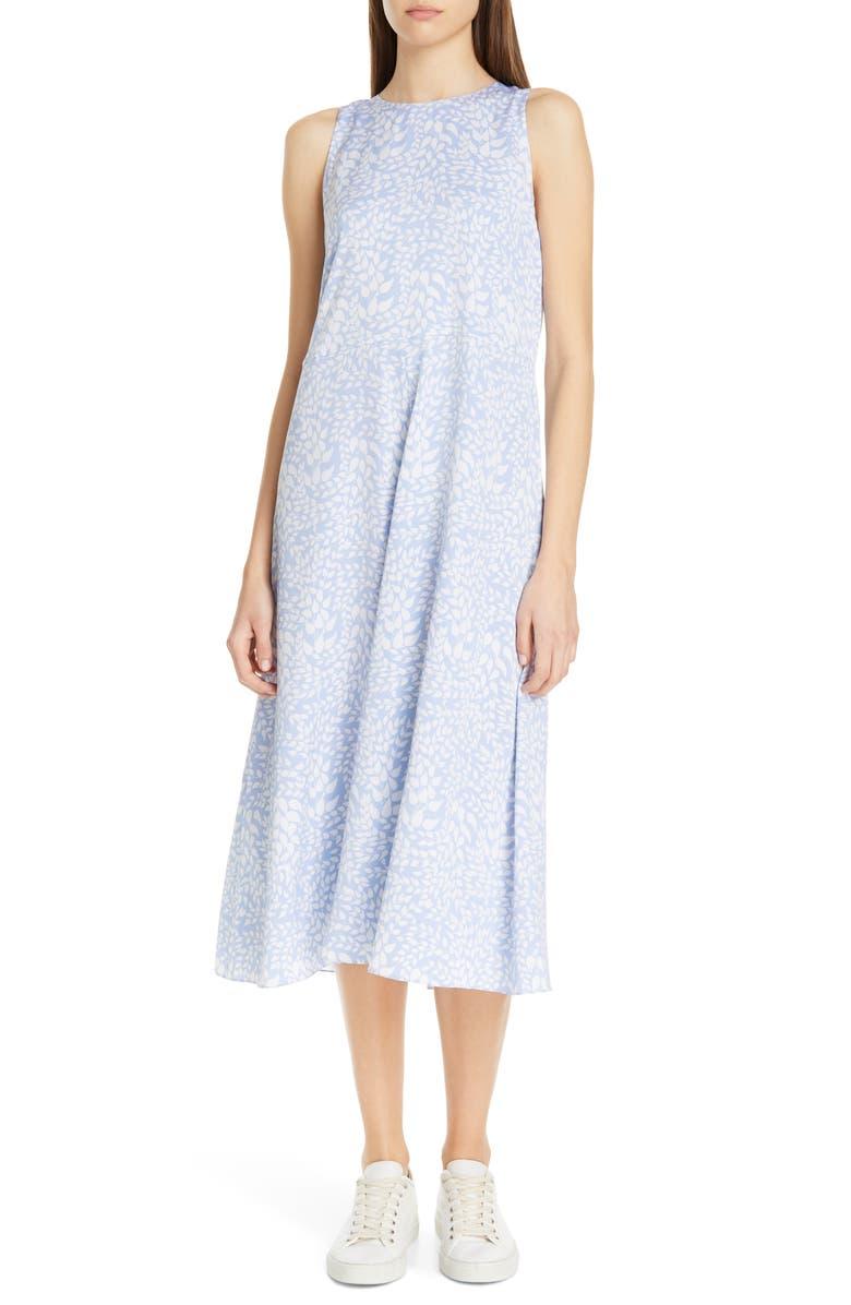 NORDSTROM SIGNATURE Sleeveless Stretch Silk Dress, Main, color, 450
