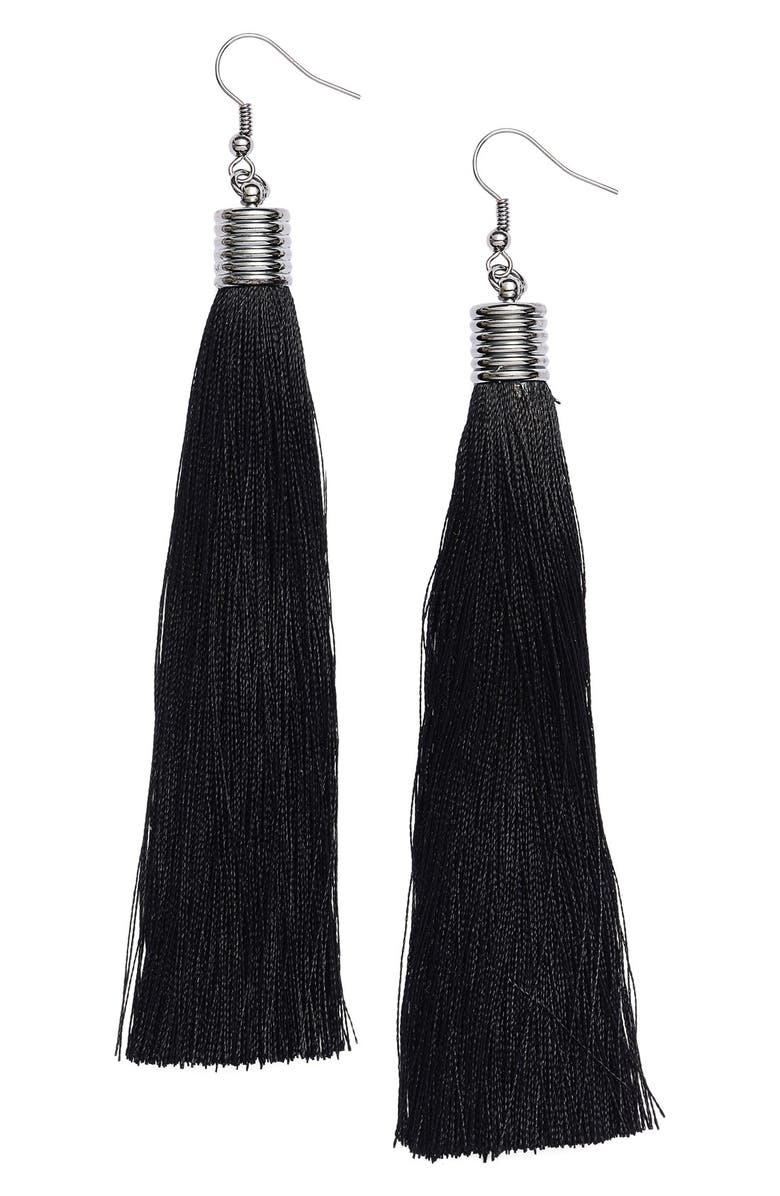 CRISTABELLE Tassel Drop Earrings, Main, color, 001