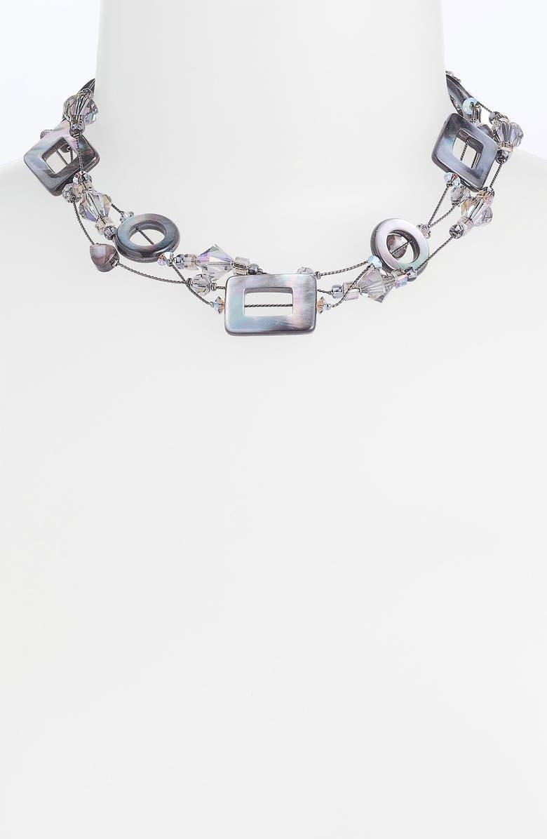 DABBY REID Three Strand Necklace, Main, color, 002