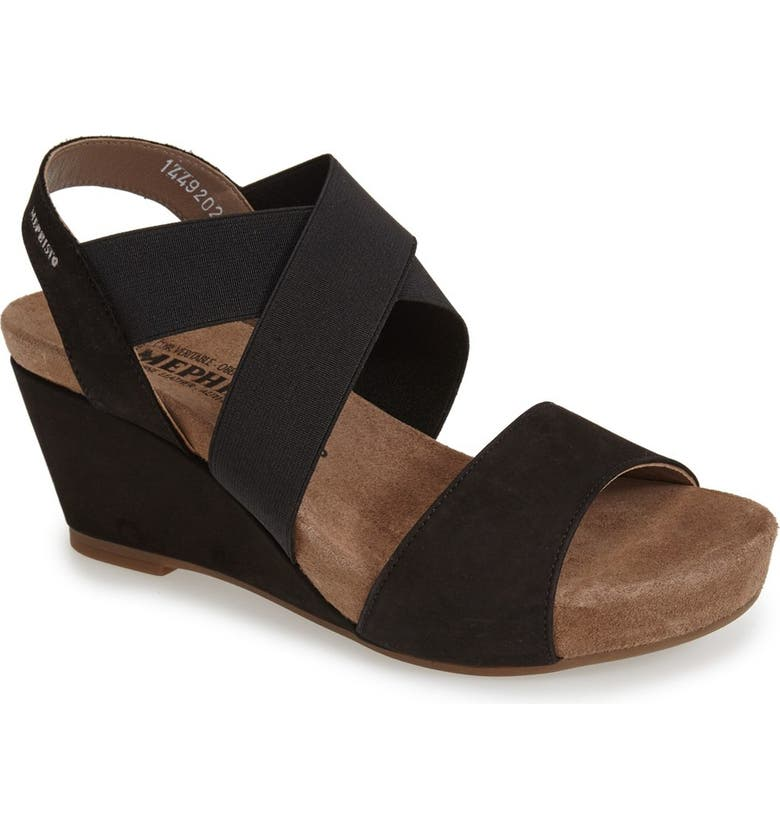 MEPHISTO 'Barbara' Wedge Sandal, Main, color, 001