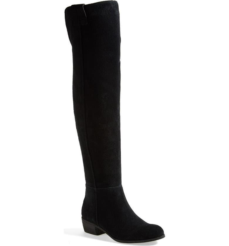 SAM EDELMAN 'Johanna' Over the Knee Suede Boot, Main, color, 001