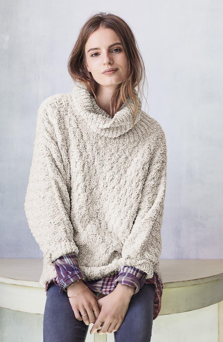 CHELSEA28 Fluffy Turtleneck Sweater, Main, color, 930