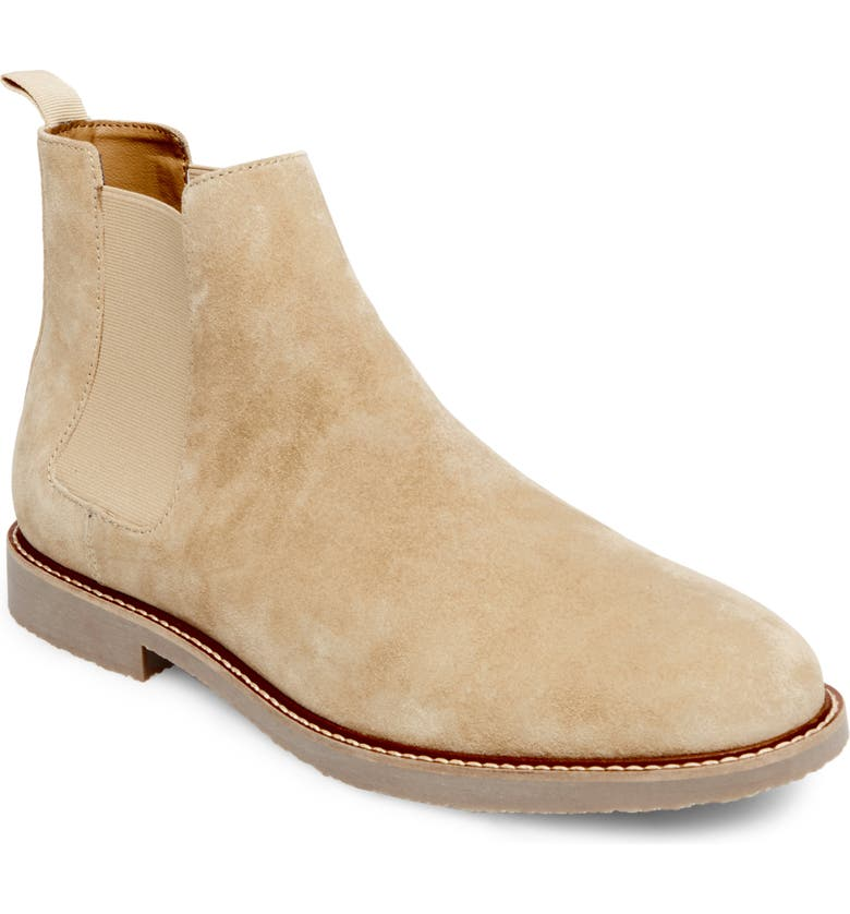STEVE MADDEN Highline Chelsea Boot, Main, color, SAND SUEDE