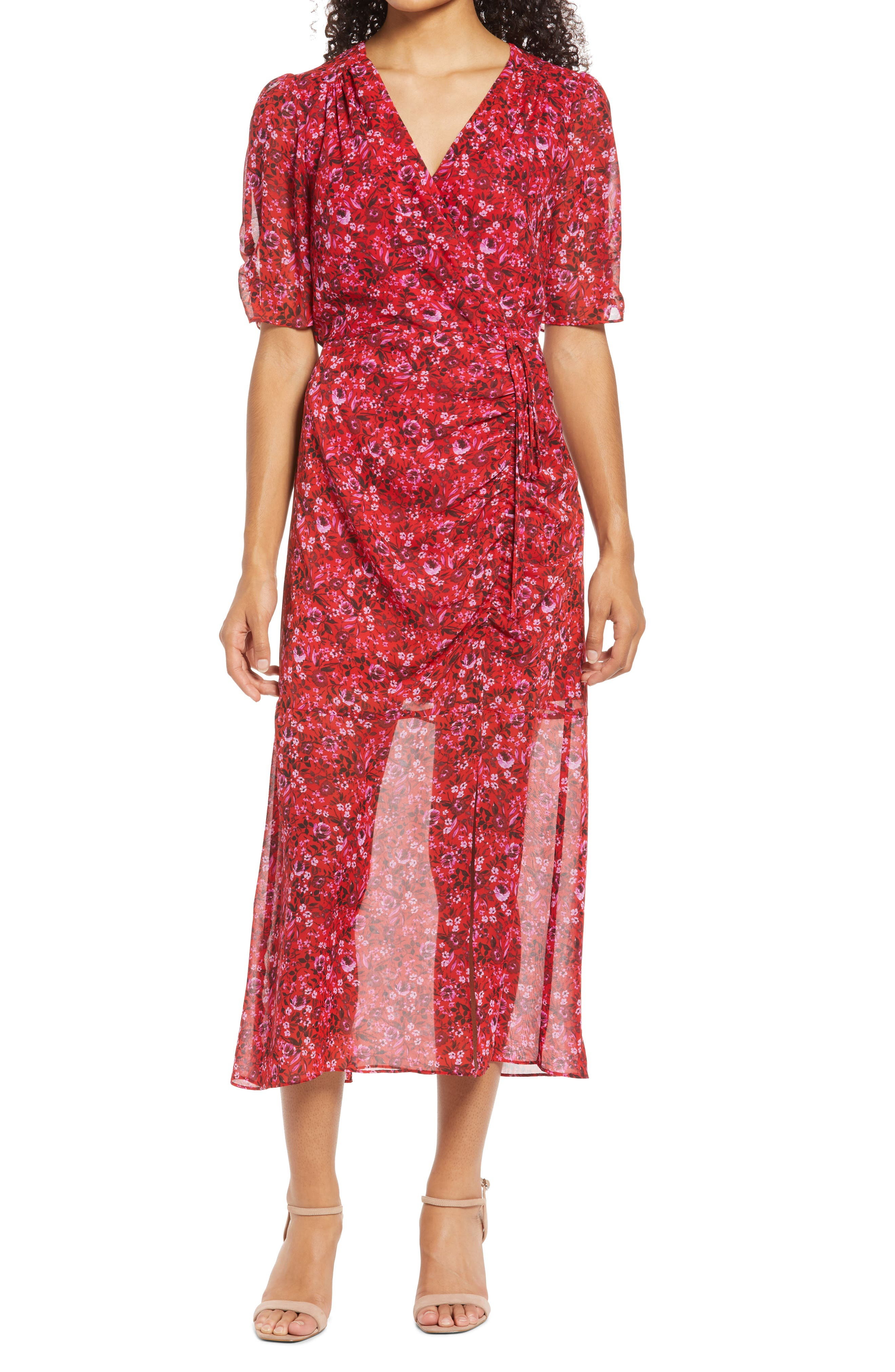 Side Ruched Maxi Dress