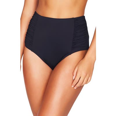 Sea Level High Waist Bikini Bottoms, Blue