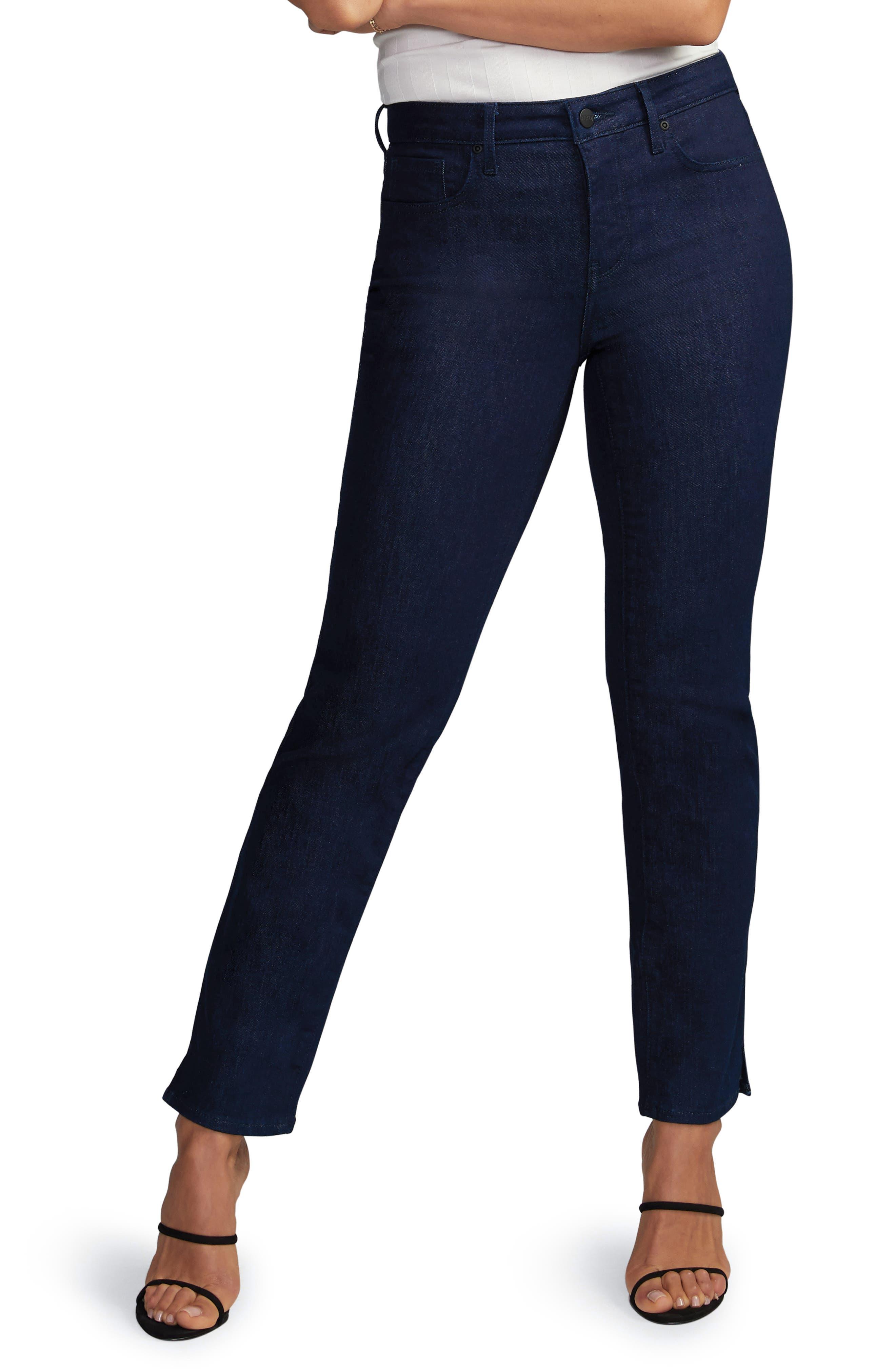 Slim Ankle Straight Leg Jeans