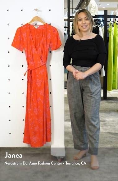 Right Timing Midi Wrap Dress, sales video thumbnail