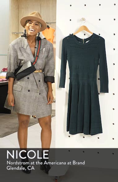 Fit & Flare Sweater Dress, sales video thumbnail