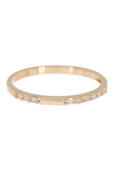 Image of Paige Novick 14k Gold Diamond Pave Single Band Ring