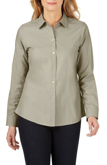 Foxcroft T-shirts DIANNA NON-IRON COTTON SHIRT