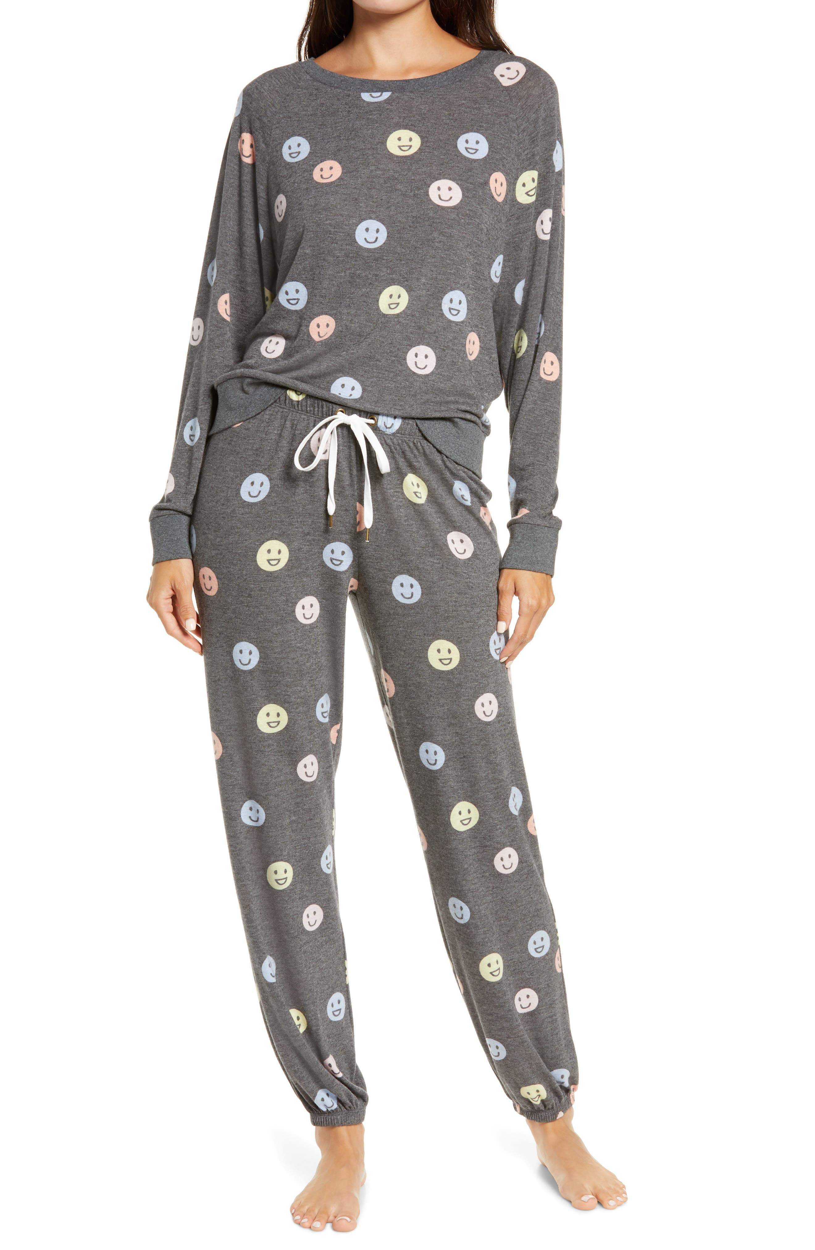 These soft brushed-jersey pajamas will not have to invite you twice to enjoy their luxe, lounge-all-day comfort. Style Name: Honeydew Intimates Star Seeker Brushed Jersey Pajamas. Style Number: 5905206. Available in stores.