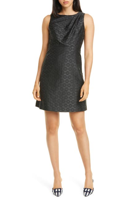 Image of kate spade new york floral spade jacquard dress