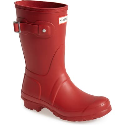 Hunter Original Short Waterproof Rain Boot, Red