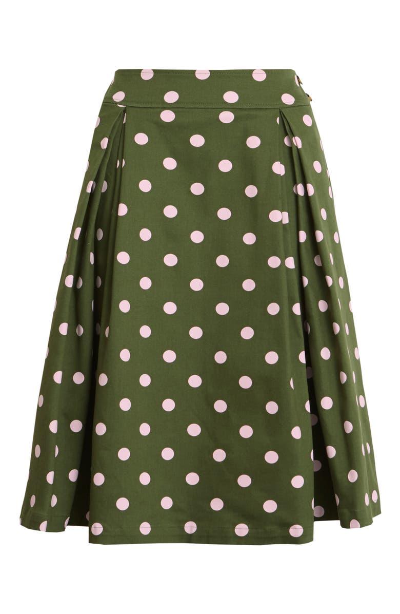 HALOGEN<SUP>®</SUP> x Atlantic-Pacific Print Full Midi Skirt, Main, color, 310