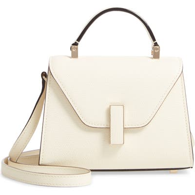 Valextra Iside Micro Top Handle Bag - White