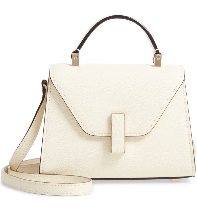 VALEXTRA Iside Micro Top Handle Bag, Main, color, WHITE