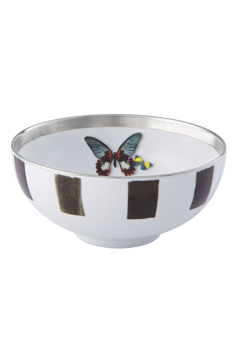 CHRISTIAN LACROIX Sol y Sombra Soup Bowl, Main, color, BLACK AND WHITE