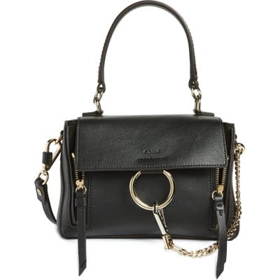 Chloe Mini Faye Day Leather Crossbody Bag - Black