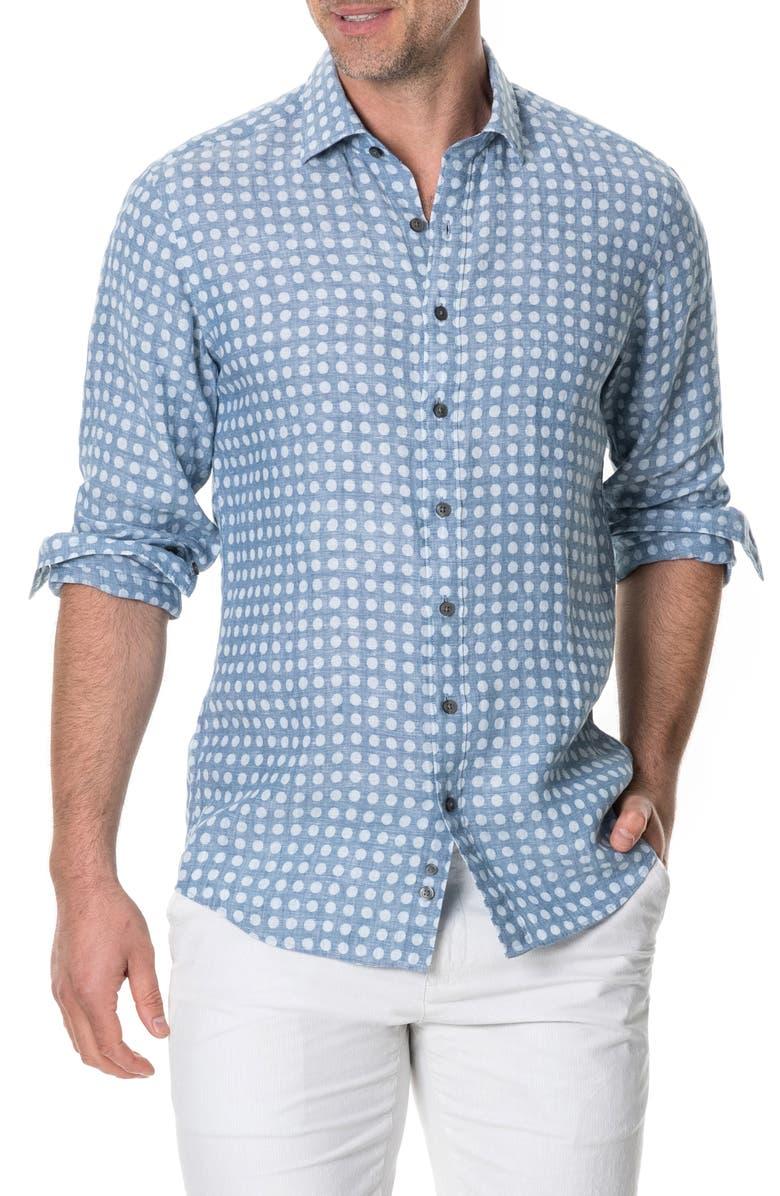 RODD & GUNN Pickersgill Regular Fit Sport Shirt, Main, color, 452