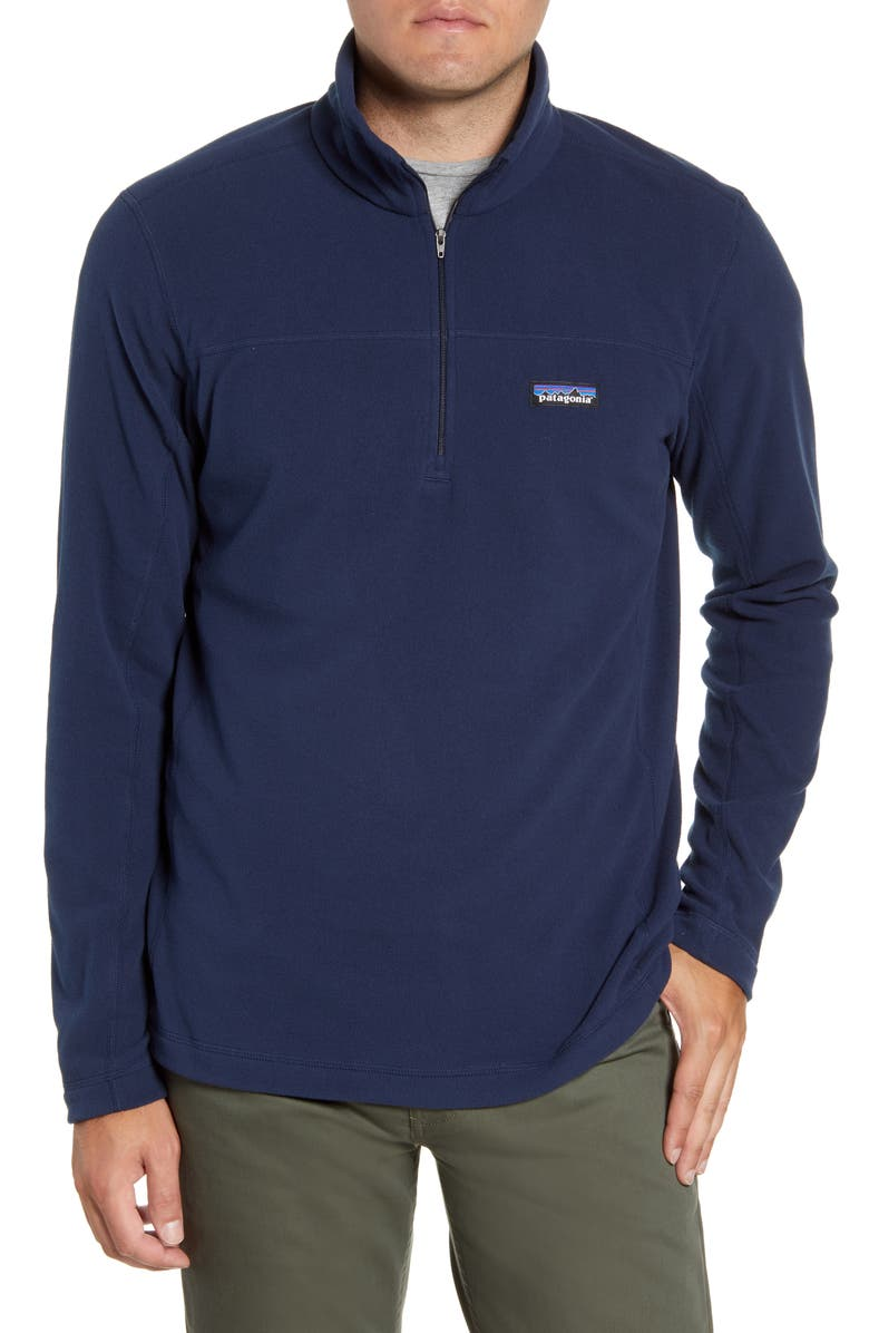 PATAGONIA Micro D<sup>®</sup> Quarter-Zip Fleece Pullover, Main, color, NEW NAVY