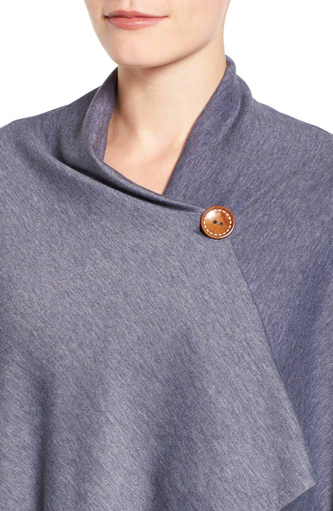,                             One-Button Fleece Wrap Cardigan,                             Alternate thumbnail 133, color,                             424