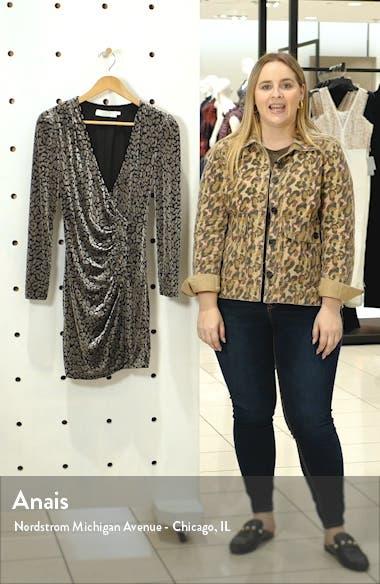 Yasmin Long Sleeve Faux Wrap Minidress, sales video thumbnail