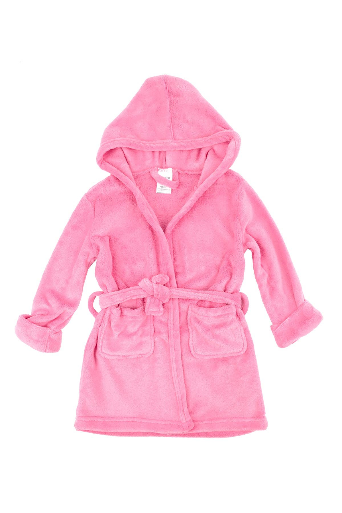 Image of Leveret Light Pink Fleece Hooded Robe