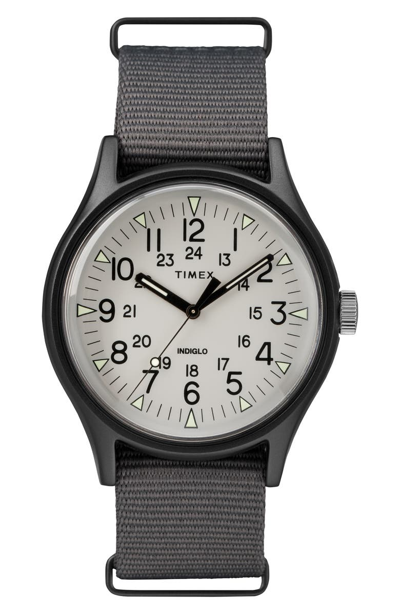 TIMEX<SUP>®</SUP> MK1 Nylon Strap Watch, 40mm, Main, color, 020