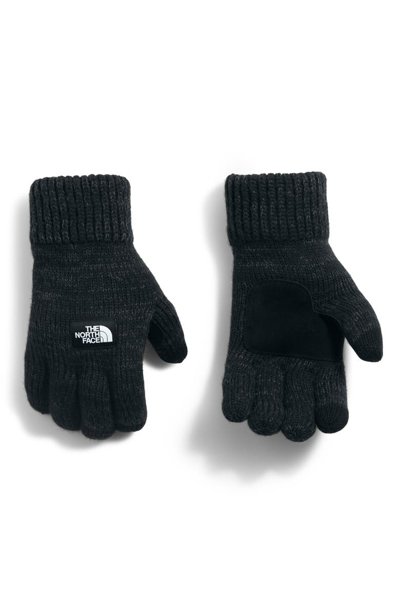 THE NORTH FACE Etip Salty Dog Knit Tech Gloves, Main, color, BLACK