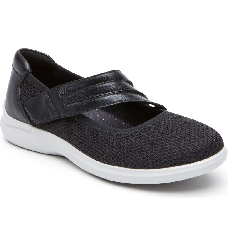 ARAVON PC Mary Jane Sneaker, Main, color, BLACK FABRIC