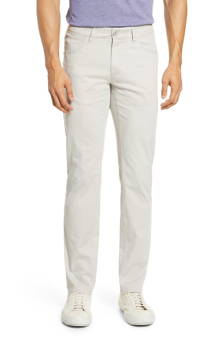 BRAX Chuck Triplestone Modern Fit Stretch Cotton Pants, Main, color, STONE