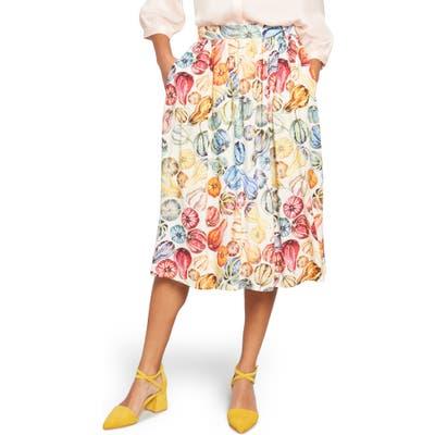 Plus Size Modcloth Match Made Midi Skirt, Ivory
