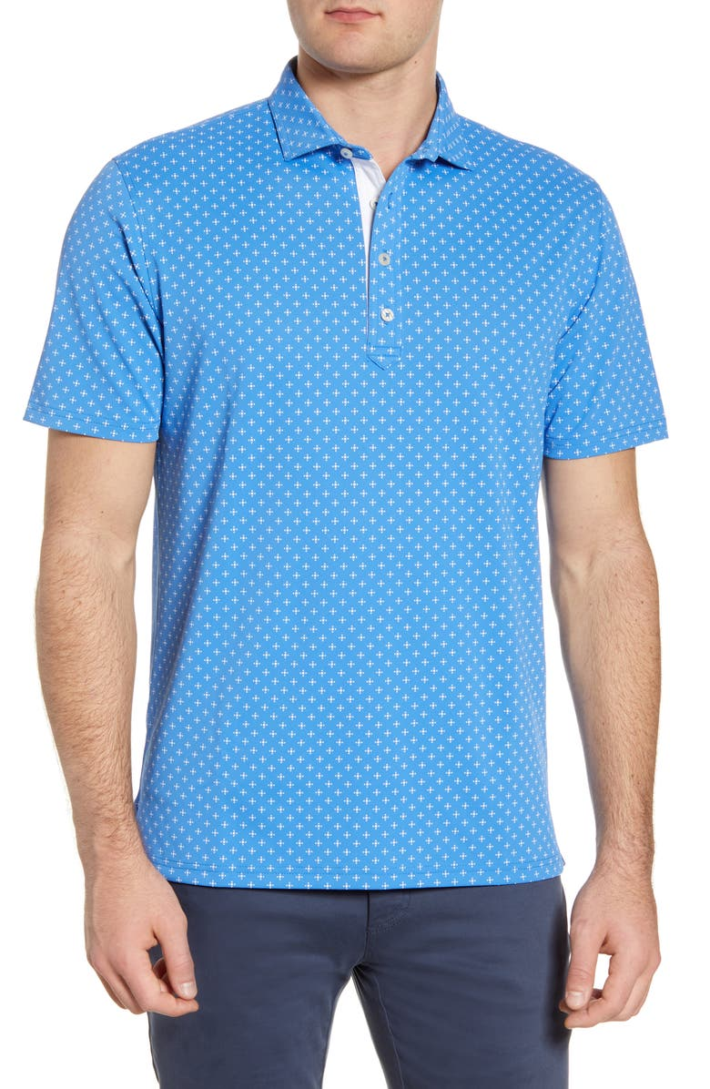JOHNNIE-O Hinton Performance Polo, Main, color, RIPTIDE