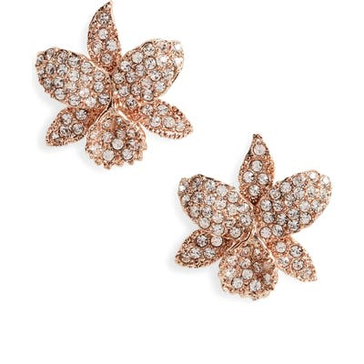 Nina Small Orchid Swarovski Crystal Stud Earrings