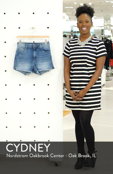 Aubrey High Waist Denim Shorts, sales video thumbnail