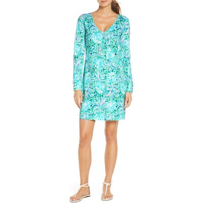 Lilly Pulitzer Davie Floral Long Sleeve Dress, Green