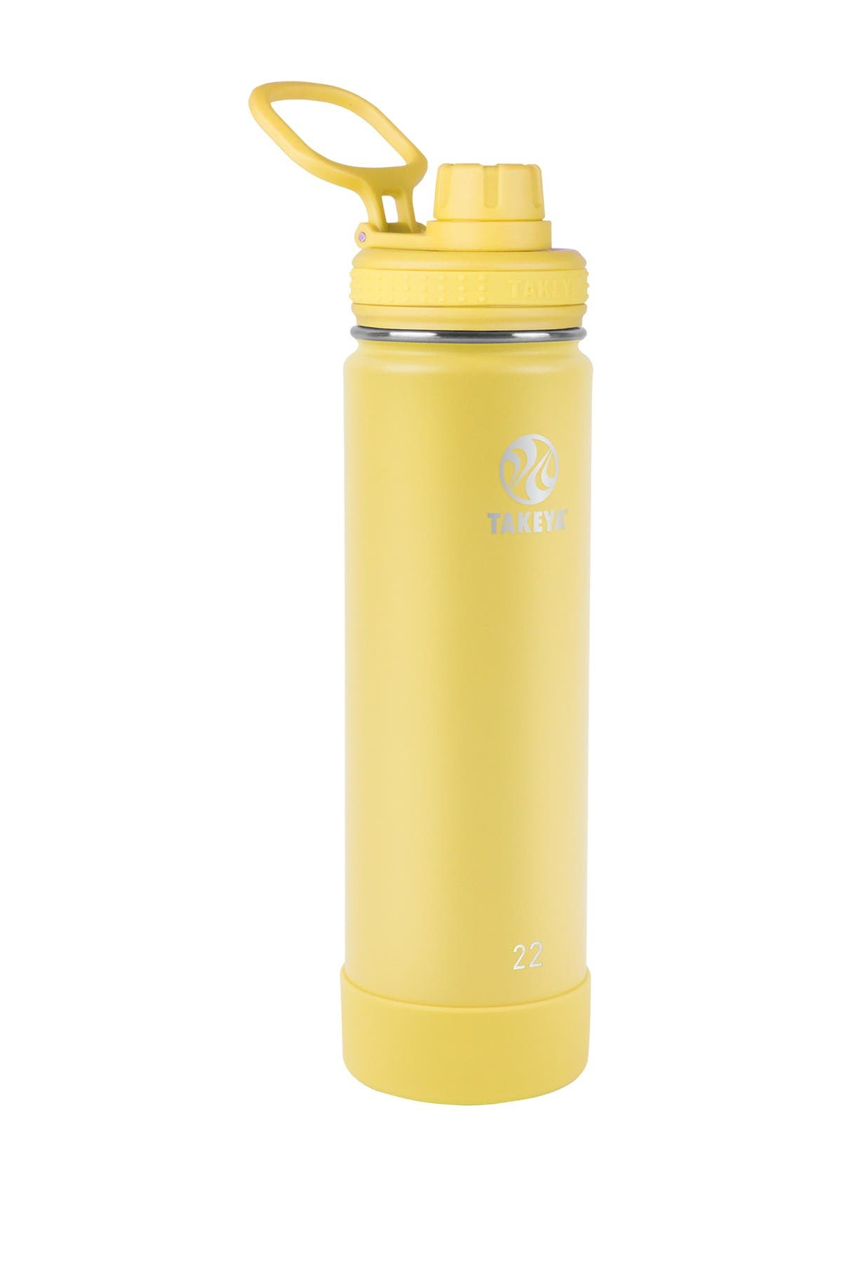 Image of Takeya Canary Actives Insulated 22 oz. Spout Lid Stainless Steel Bottle