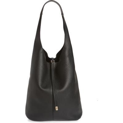 Salvatore Ferragamo Calfskin Leather Hobo - Black