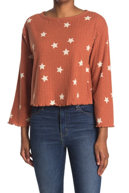 Image of Lush Long Sleeve Lettuce Edge Top