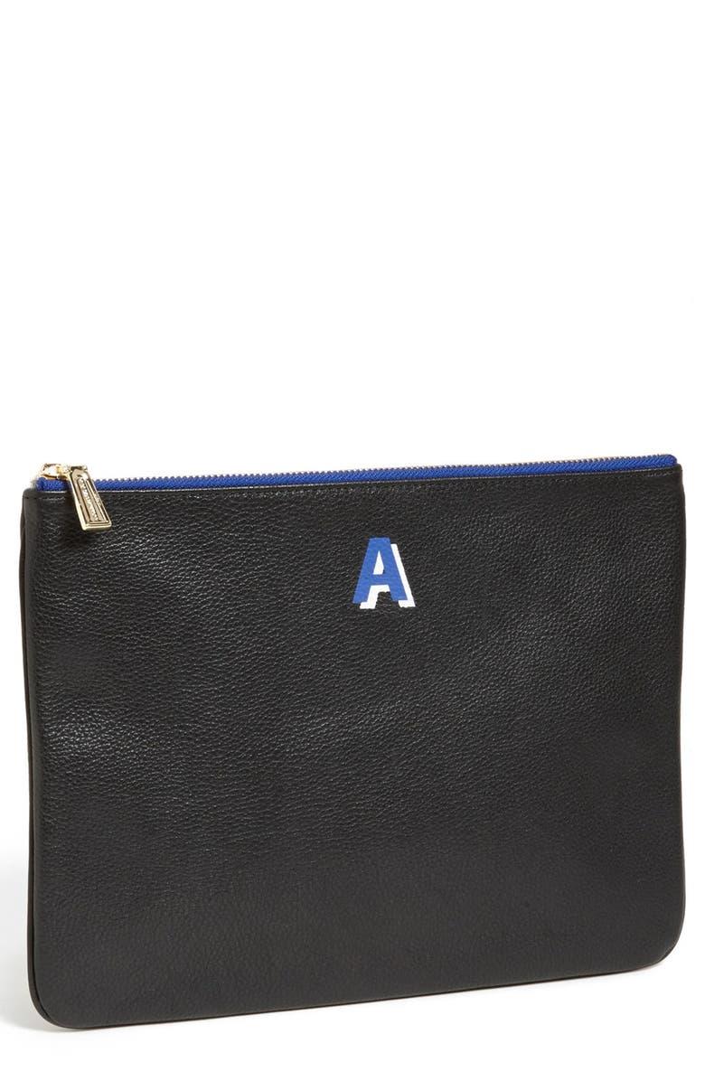 REBECCA MINKOFF 'Jody - A-Z' Leather Pouch, Main, color, 001