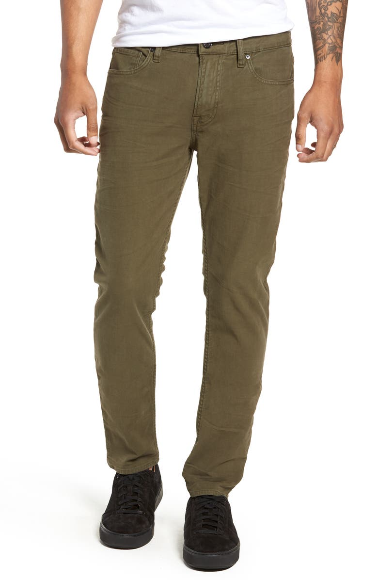 HUDSON JEANS Axl Skinny Fit Jeans, Main, color, FATIGUE GREEN
