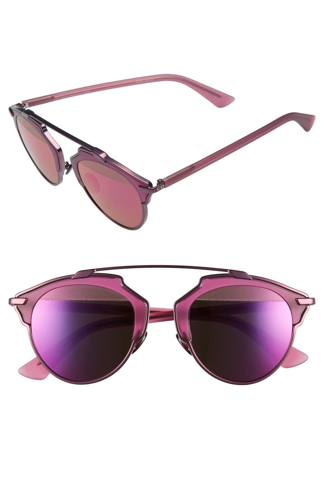 ,                             So Real 48mm Brow Bar Sunglasses,                             Main thumbnail 57, color,                             511