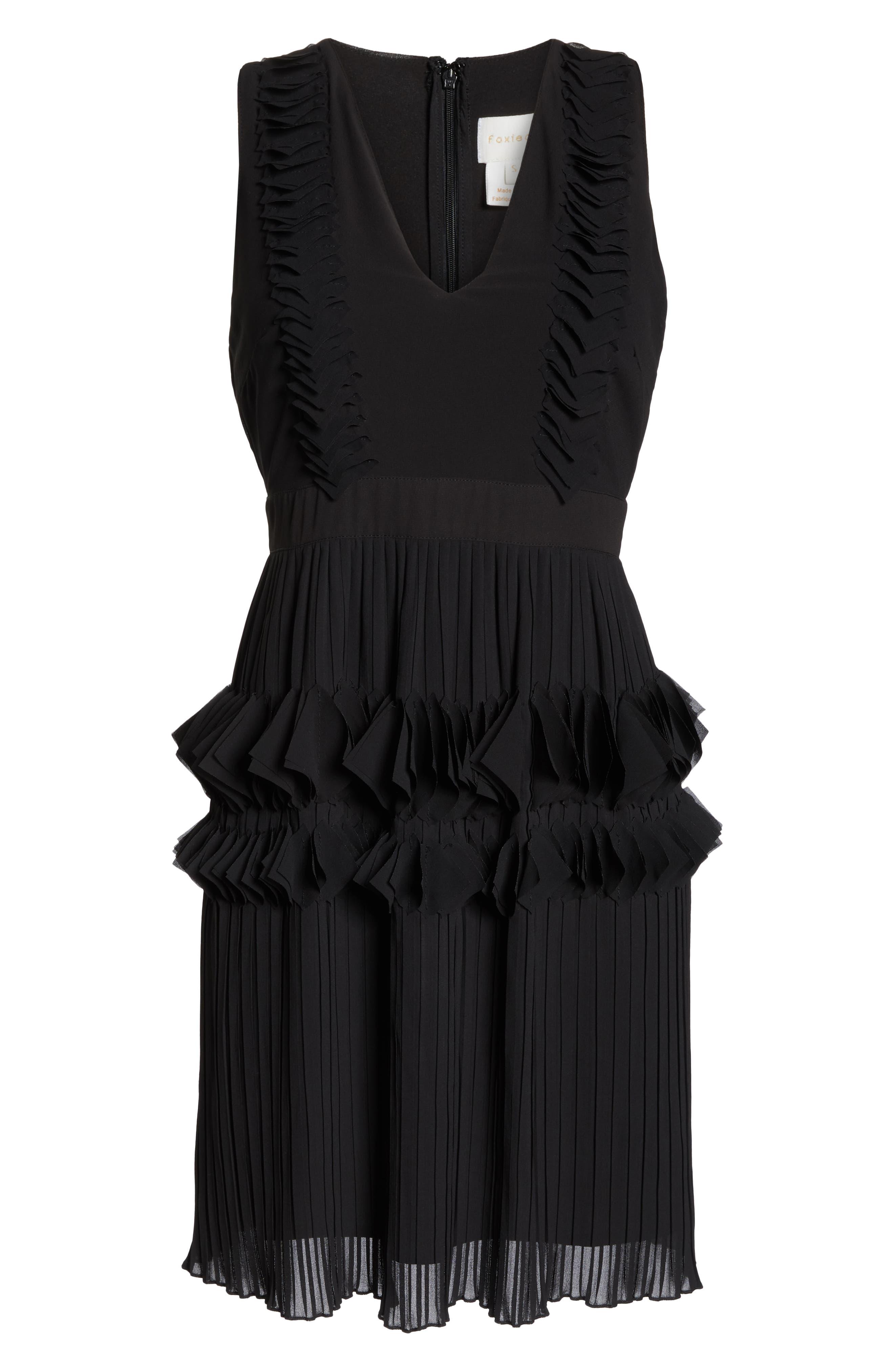 ,                             Love Ruffle Dress,                             Alternate thumbnail 7, color,                             BLACK