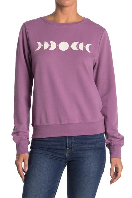Image of WILDFOX Moon Phases Crew Neck Sweatshirt