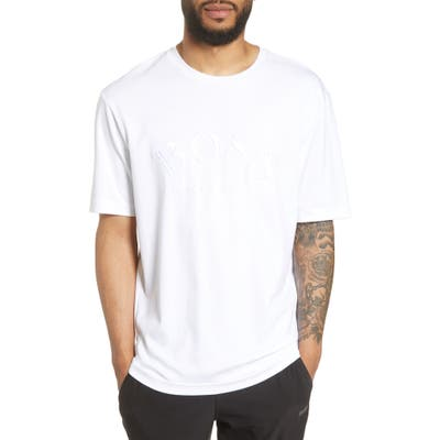 Boss Talboa Logo Embroidered T-Shirt, White
