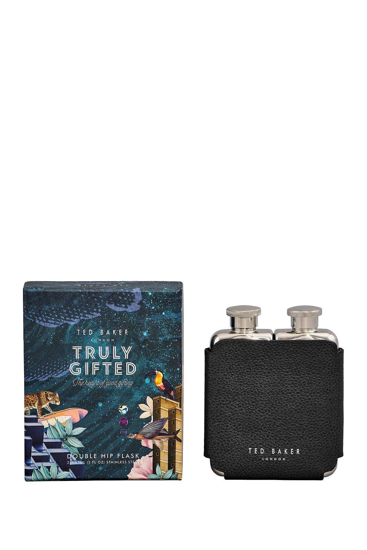Image of Ted Baker London Ted's World Double Hip Flask