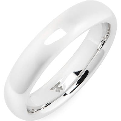 Tom Wood Medium Polished Classic Sterling Silver Band