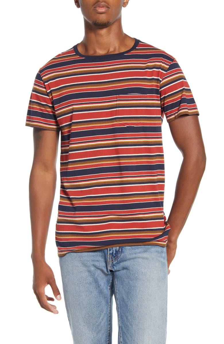 BANKS JOURNAL Joshua Stripe Pocket T-Shirt, Main, color, DDN- DIRTY DENIM