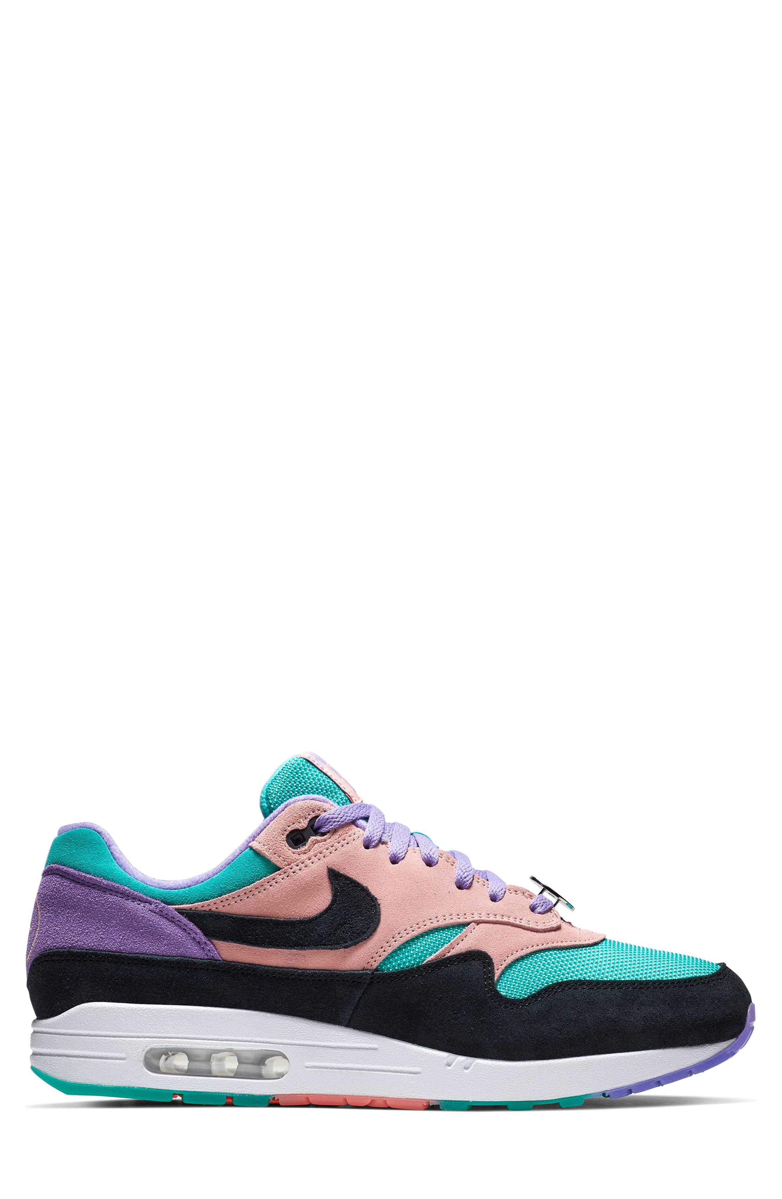 ,                             Air Max 1 Have a Nike Day Sneaker,                             Alternate thumbnail 3, color,                             SPACE PURPLE/ BLACK/ CORAL